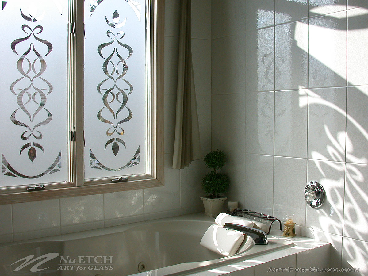 Decorating & Privacy Solutions For Bathroom Glass