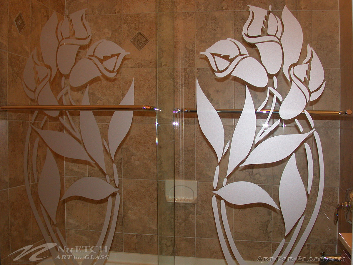 Shower Door Film Decorative