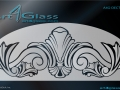 Traditional Art Design for Glass A4G-DECT-11001