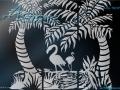 Tropical Art Designs for Glass  A4G-TROP-11001