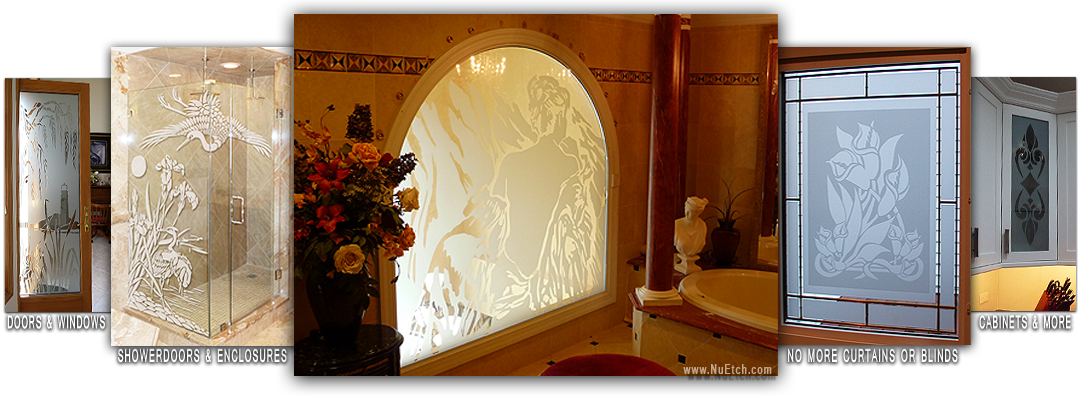 NuEtch Art for Glass - Decorative Glass Designs for Showerdoors, windows, cabinet door glass