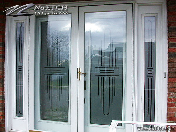 decorating and privacy solutions for glass front doors and