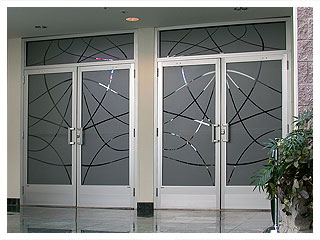 The Look Of Etched Glass Makes A Great Impression And Adds ...