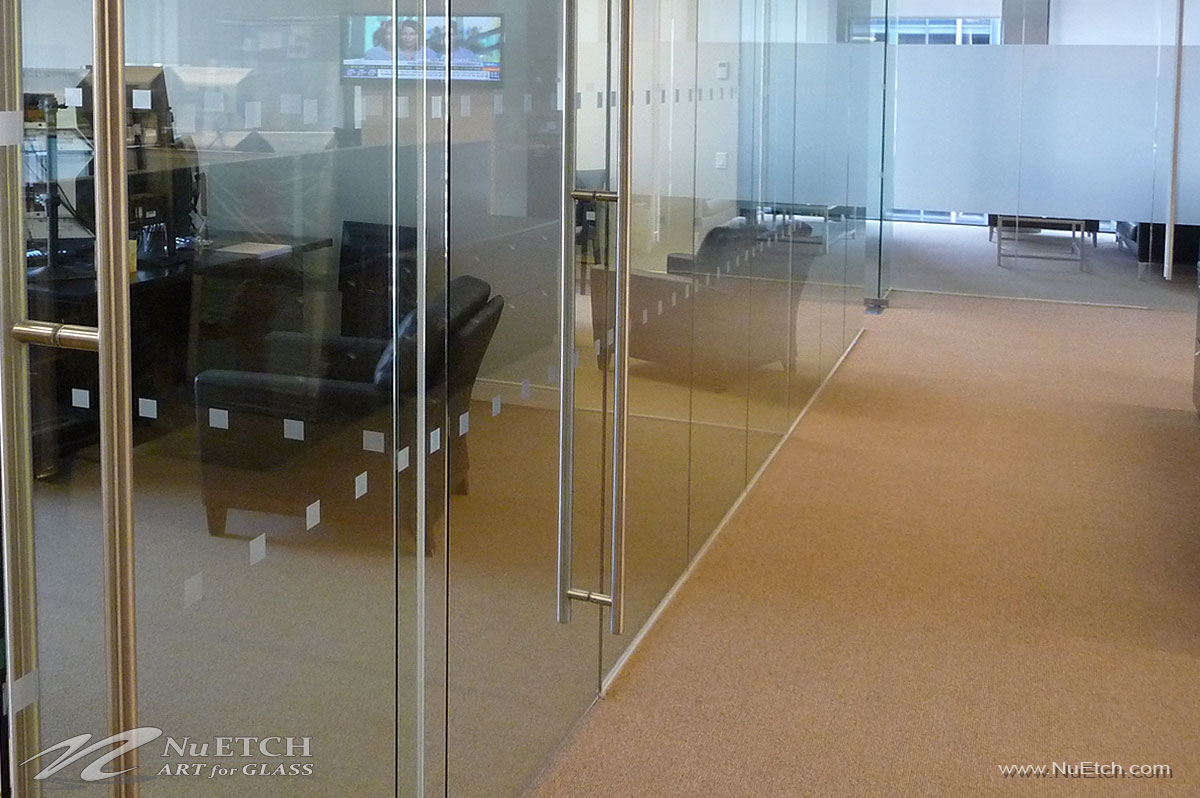 NuEtch Distraction Markers - Privacy for Office Glass
