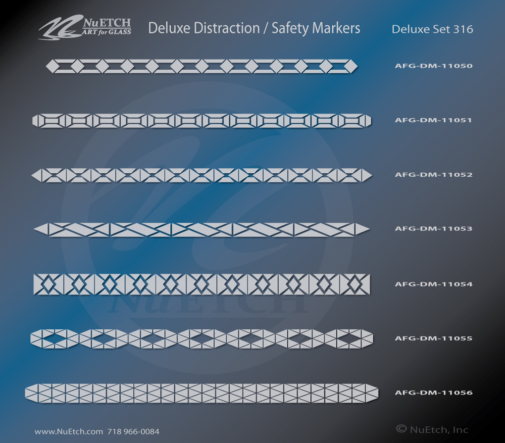 NuEtch Distraction Safety Markers DELUXE Set 316