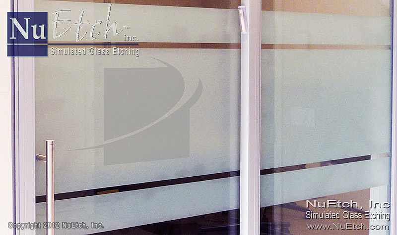 NuEtch - Frosted Privacy Band Glass