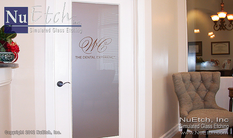 NuEtch - Logo Glass Door