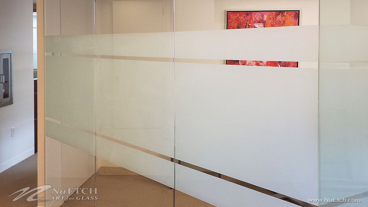 NuEtch - Art for Glass Privacy on Glass Panels