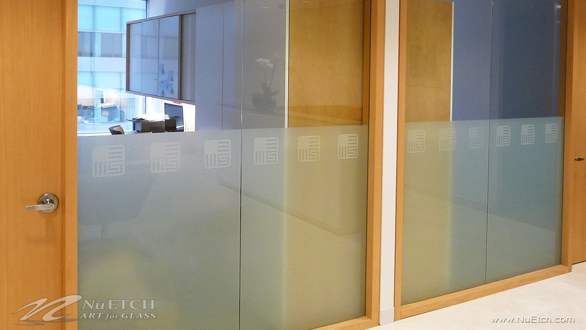 NuEtch - Logo and Privacy on Glass Panels