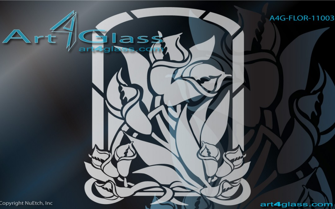 Floral Art Designs for Glass Catalog